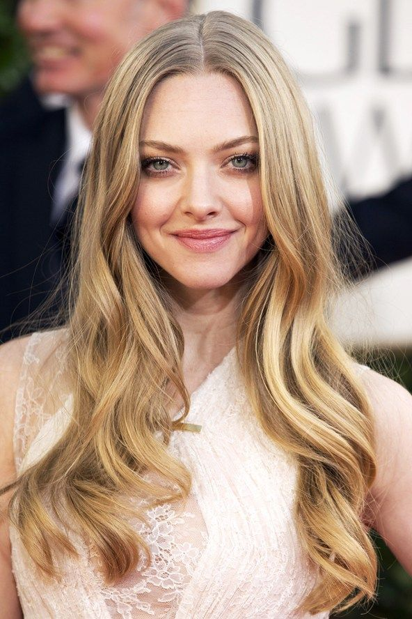 Red Carpet Beauty 2013: Golden Globe Awards, January 2013 - Long, centre-parted waves complemented Amanda Seyfried's pretty, natural beauty look.