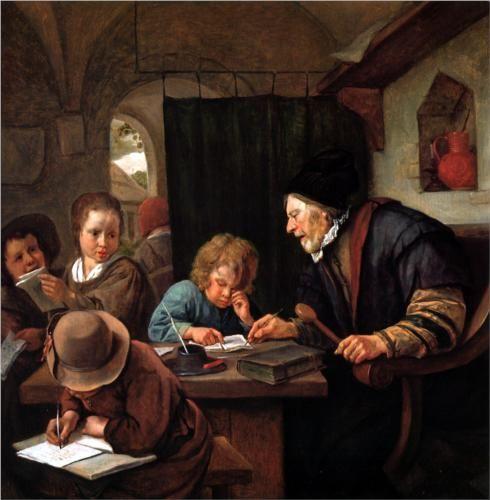 School teacher - Jan Steen