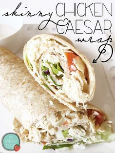 Skinny Chicken Caesar Wrap (Crock Pot) — Under 250 calories in this yummy and really easy wrap! TheSkinnyFork.com