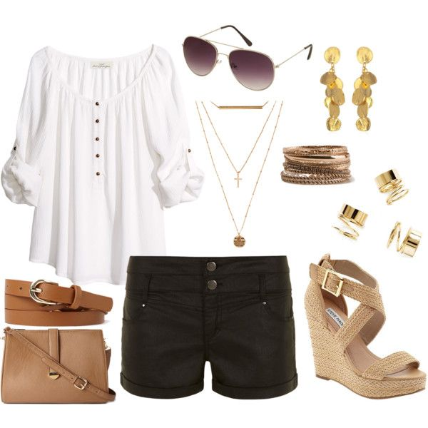 """""""Summer Outfit for Apple Body Shape"""" by ladylikecharm on Polyvore"""