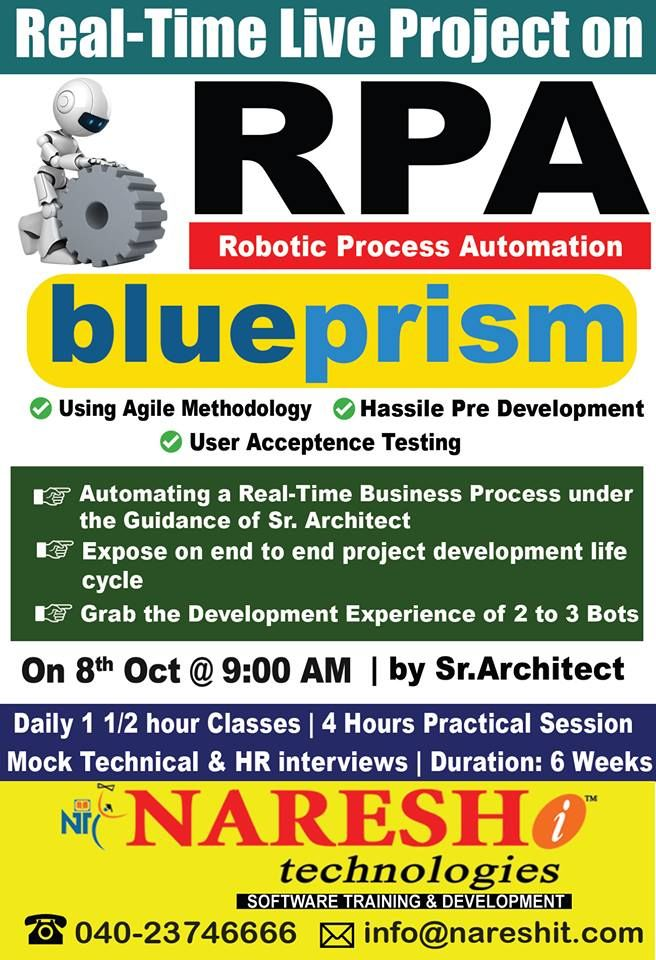 Attend RPA(Robotic Process Automation) Real-Time Live Project with