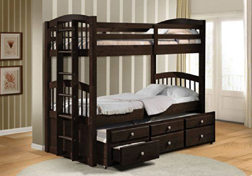 Cheap Acme 40000A Micah Twin/Twin Bunk Bed with Trundle Espresso Finish https://woodbunkbedsforkids.info/cheap-acme-40000a-micah-twintwin-bunk-bed-with-trundle-espresso-finish/