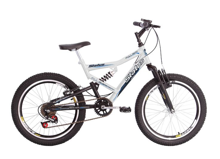 bicicleta aro 20 dupla suspensão 6v status