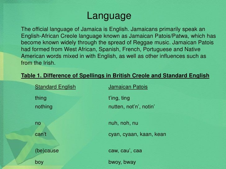 25+ Best Ideas About Language Of Jamaica On Pinterest