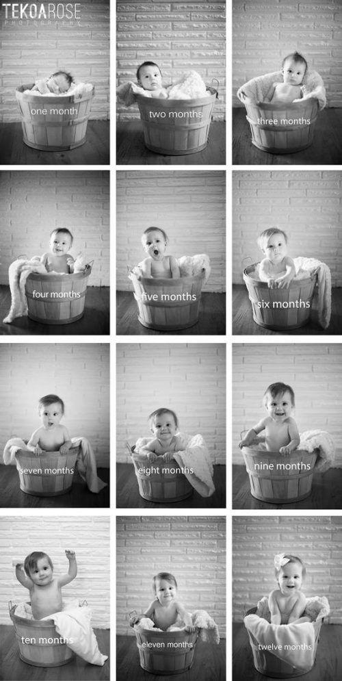 DIY Baby-Fotografie: Das erste Jahr in Fotos • style-pray-love