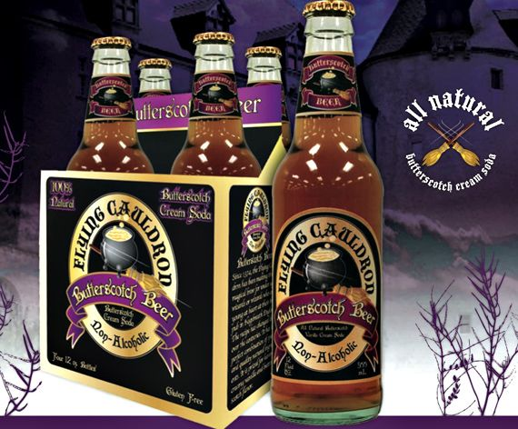 Flying Cauldron Butterscotch Beer (non-alcoholic).awesome flavor truly butterscoth not vanilla creme pretender.not tooth ache sweet either