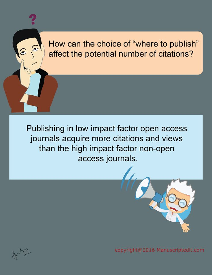 "#Manuscriptedit @ How can the choice of ""where to #publish"" affect the potential number of citations?  Publishing in low impact factor open access #journals acquire more citations and views than the high impact factor non-open access journals.  #Manuscriptedit #publication : http://bit.ly/1NvtPEX"