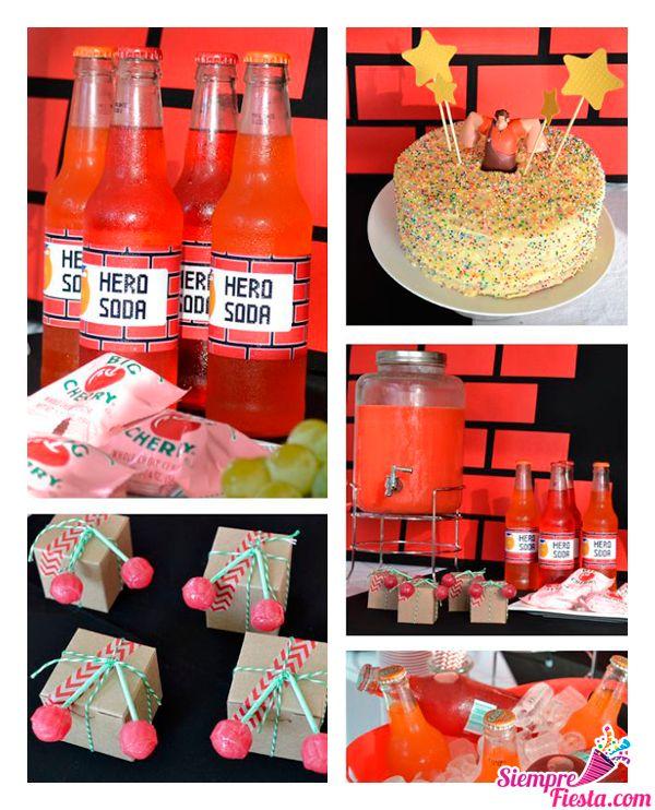 Increíbles ideas para una fiesta de cumpleaños de Ralph el Demoledor. Encuentra todos los artículos para tu fiesta en nuestra tienda en línea: http://www.siemprefiesta.com/fiestas-infantiles/ninos/articulos-ralph-el-demoledor.html?limit=all&utm_source=Pinterest&utm_medium=Pin&utm_campaign=Ralph