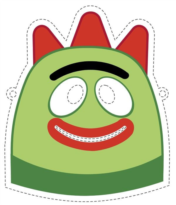 Free Printable Halloween Masks - All Yo Gabba Gabba characters