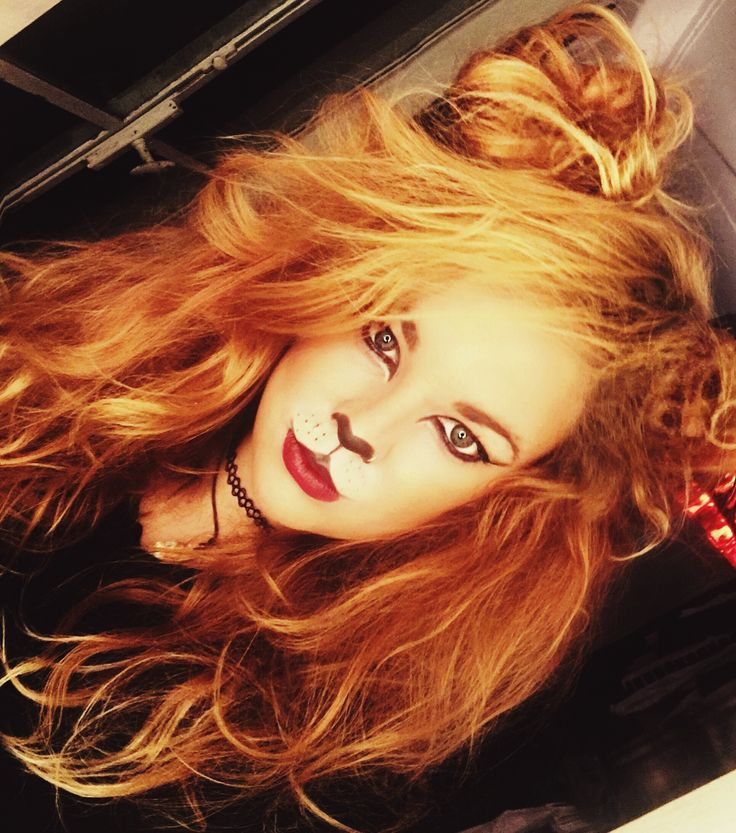 Lion costume halloween diy makeup