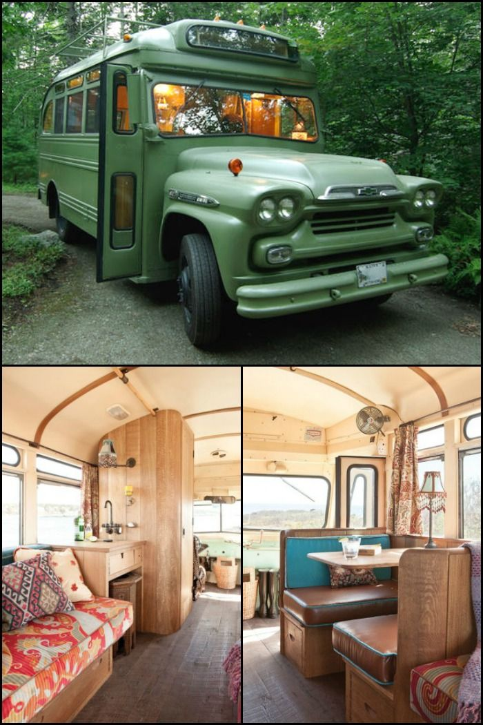 1959 Chevrolet Viking short bus converted into a hippy-Moroccan camper!