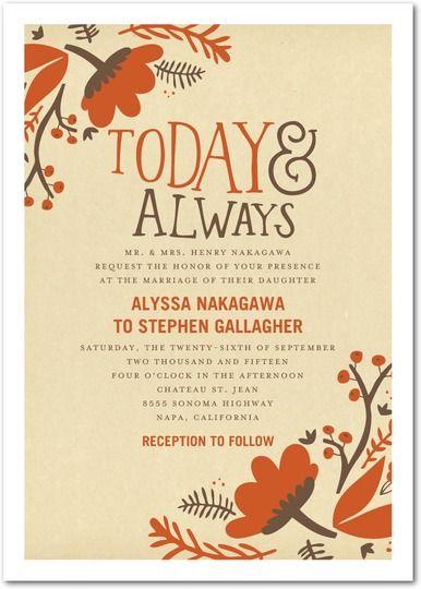 3 adorable fall wedding invitations
