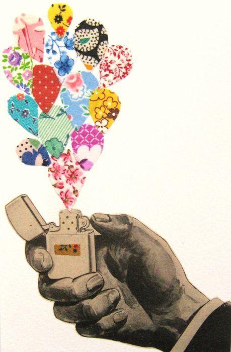 illustration: Graphic, Inspiration, Pattern, Color, Art, Illustration, Collage, Lighter, Balloon