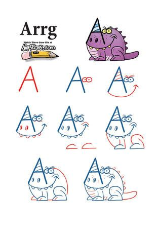 The 1636 best how to draw cartoons and more images on pinterest learn how to draw all kinds of crazy cartoon monsters using letters add shapes and lines to ordinary letters of the alphabet to create crazy creatures altavistaventures Gallery