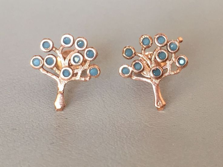 TURKISH HANDMADE 925k STERLlNG SlLVER TURQUOISE LIFE OF TREE EARRINGS  | eBay