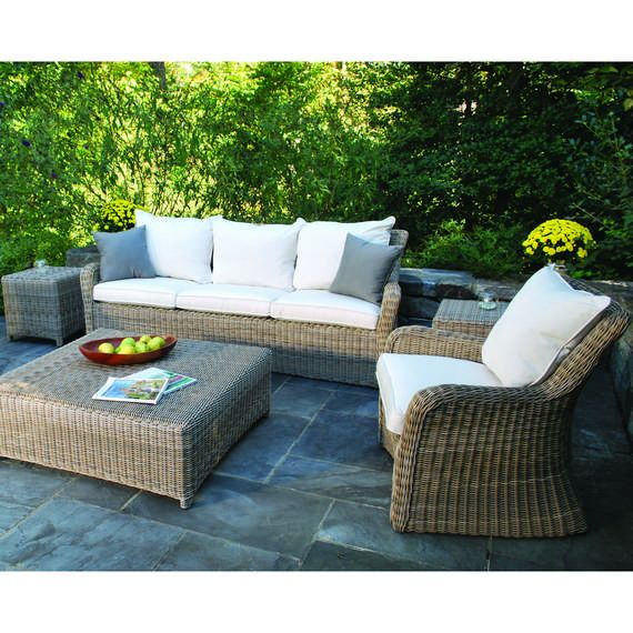 Sag Harbor Synthetic Wicker Deep Seating Set For Outdoor Furniture  Aficionados And Professional Relaxationists (Color