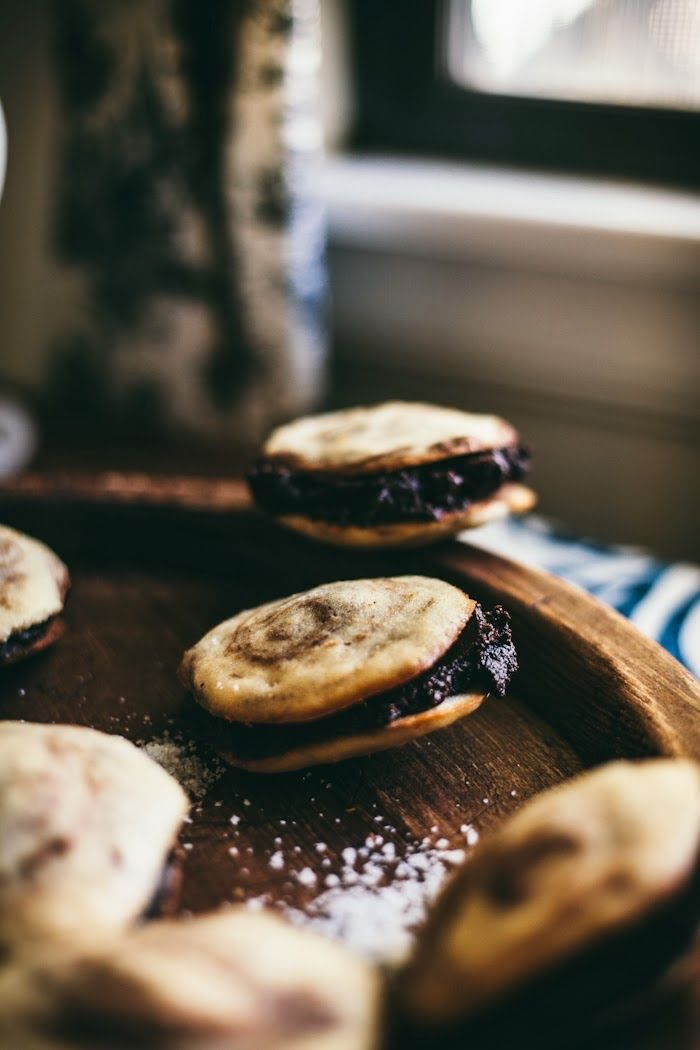 Adventures in Cooking: Cappuccino Whoopie Pies With A Salted Chocolate Ganache