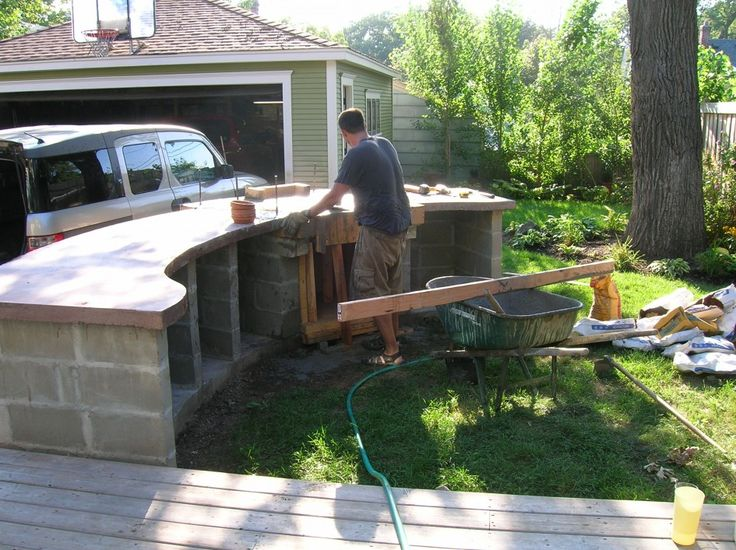 1000 images about cinder blocks on pinterest for Ready made outdoor kitchen