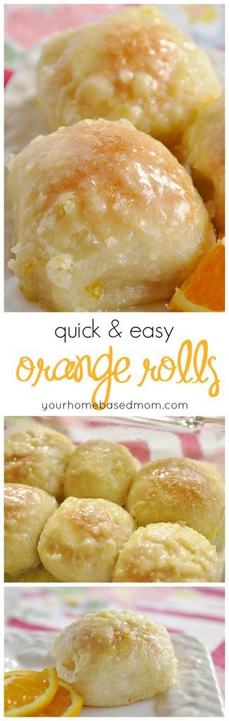These quick and easy orange rolls are amazing and so easy to make with frozen bread dough.