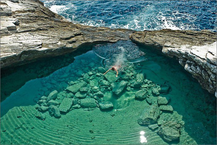 ahhhmazing: Santorini Greece, Clear Water, Tide Pools, The Village, Giola Lagoon, Place, Maui Hawaii, Nature Pools, Nature Swimming Pools
