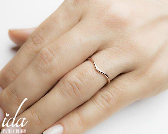 Rotgold Eheringe  Eheringe Damen  Diamant Ring  Trauring