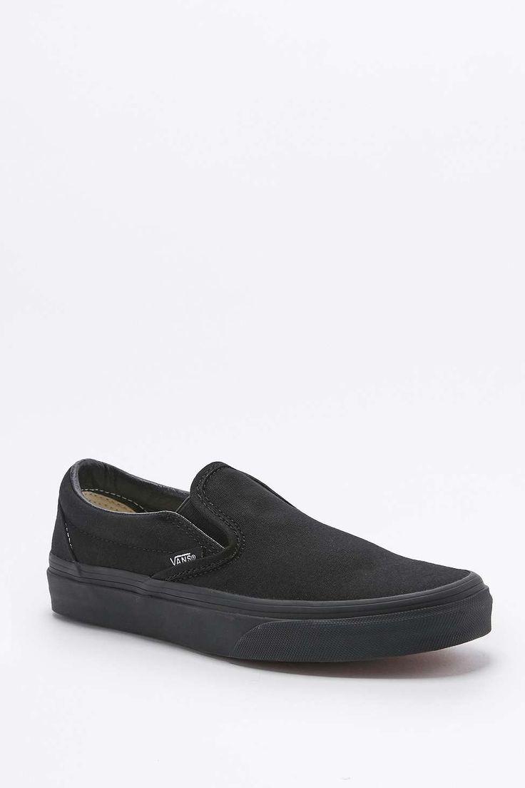 Vans Classic All Black Slip-On Trainers