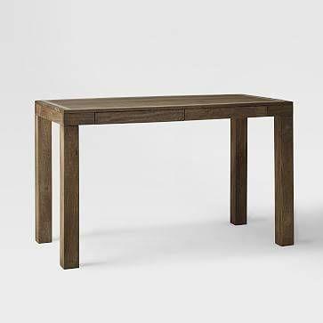 Parsons Desk with Drawer, Mango Wood/Bone