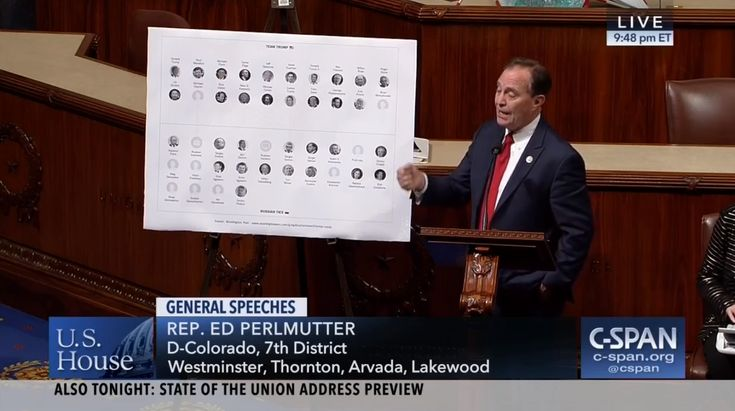 Who: Rep. Ed Perlmutter (D-Colorado)  Twitter: @repperlmutter  When: January 2018  What: Russian Investigation  Watch on C-SPAN  Read Congressional Record