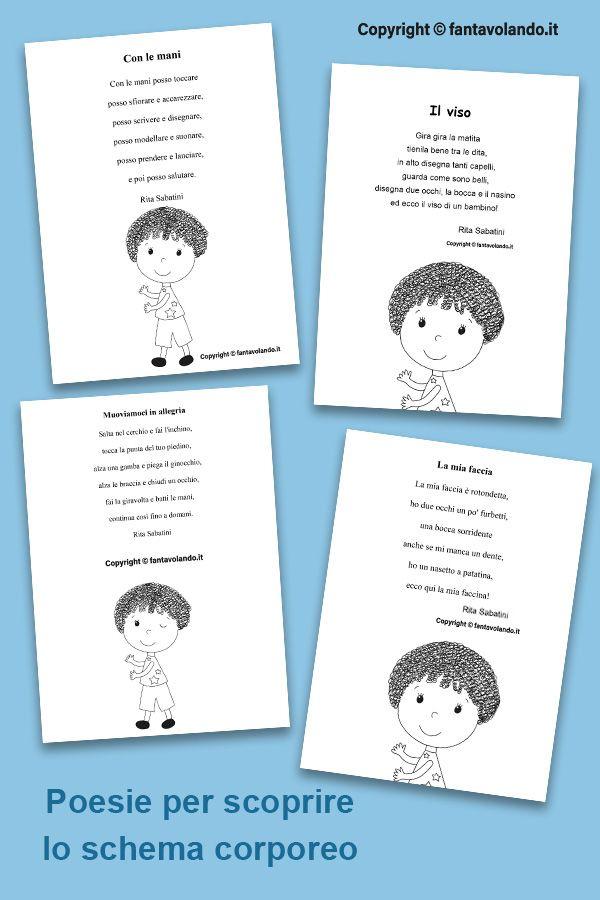 Poesie Per Scoprire Lo Schema Corporeo Attivita Del Corpo Umano Schema Materiale Scolastico Da College