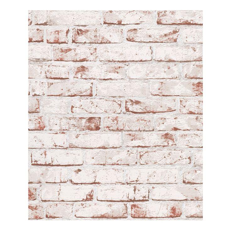 Strukturiert Rot Steine Wandfarben Tapeten Deko Bauhaus Neu England Auftauchen