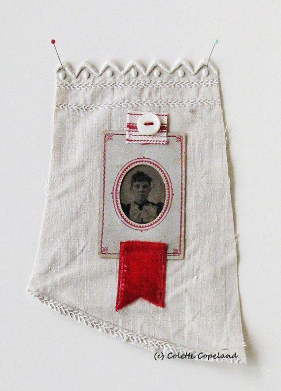Textilkunst Kleinkunst-Quilt Ferrotypie Foto von ColetteCopeland