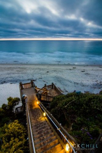 Beach Stairs on Moonlight Beach, Encinitas, California - Fine Art Print of the Month | June 2013