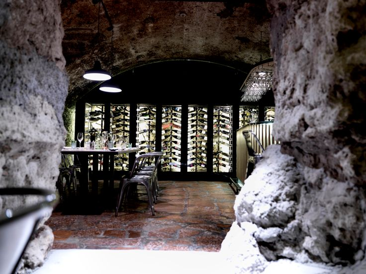 Winecellar, 660 years. wine, art & Jazz music arthotel Blaue Gans, Salzburg, Austria