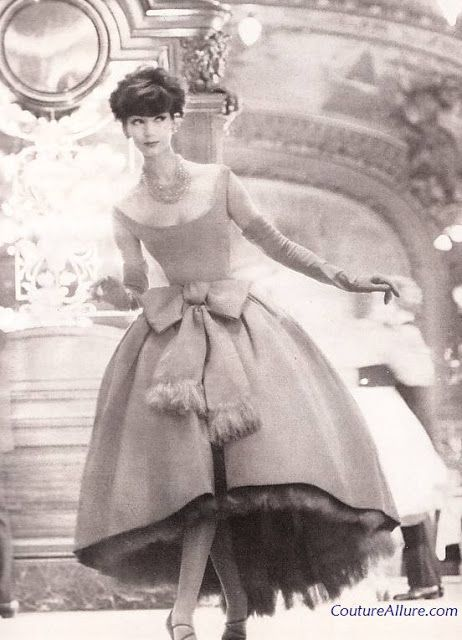 Couture Allure Vintage Fashion: Christian Dior Fringed Dress - 1958
