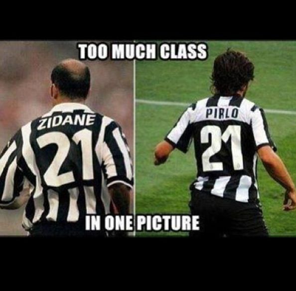 Zidane and Pirlo