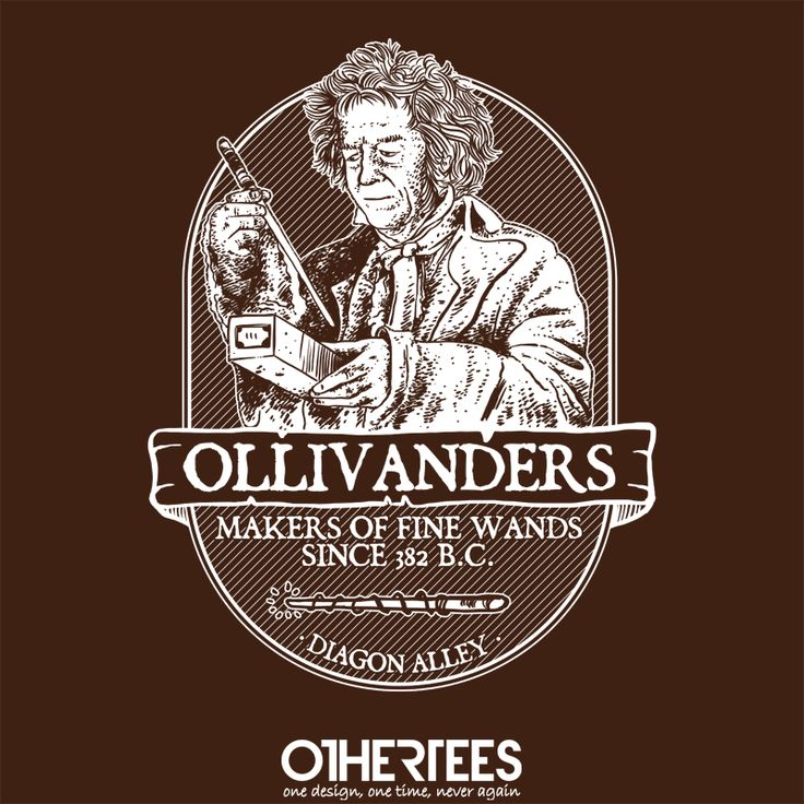 """Ollivanders fine wands"" by Azafran Shirt on sale until 27 June on othertees.com Pin it for a chance at a FREE TEE! #harrypotter #jkrowling #ollivander"