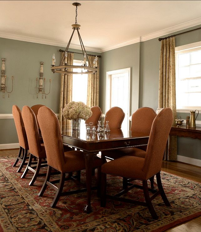 "Best Benjamin Moore Gray For Accent Wall: Paint Color: Walls: ""Benjamin Moore Heather Grey"". Trim"