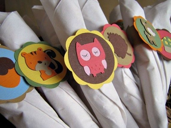 Hey, I found this really awesome Etsy listing at https://www.etsy.com/listing/60776800/woodland-party-napkin-rings-set-of-12