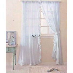 Rachel Ashwell 2 Panel Blue Sheer Simply Shabby Chic British Rose Collection