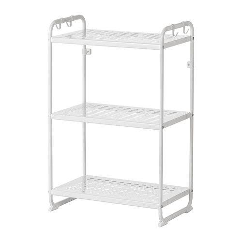 มูลิก ชั้นวางของ - 58x34x90 ซม., ขาว - IKEA