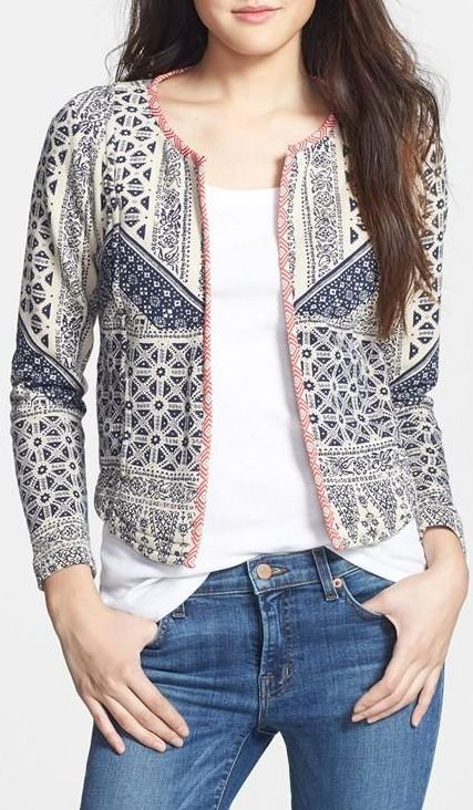 Love the print // love this jacket (just bought it!!)