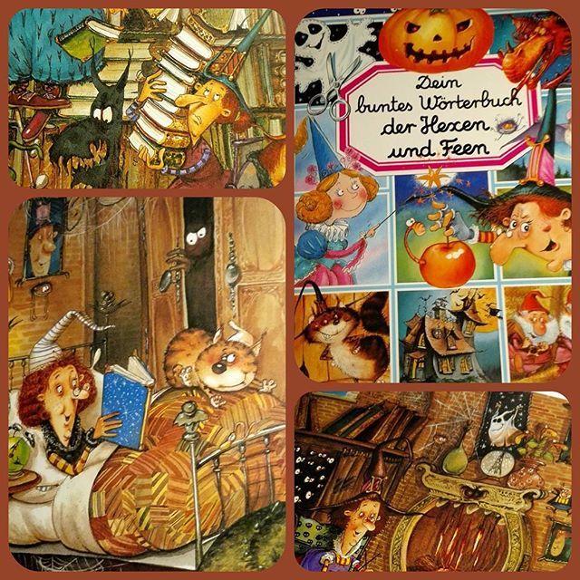 #jedentageinbuch Halloween ist Hexenzeit und somit kommt hier wieder einmal ein illustrierter Buchschatz. Vor diesem Buch kann ich Stunden verbringen. Die Bilder sind so detailreich und so liebevoll gestaltet!  Auch für Kinder wird dieses Buch ein Spaß sein. Es gibt so viel zu entdecken und hinten drin sind noch illustrierte basteltipps und rezepte.  #hexen #halloween #illustration #witch #buchliebe #bookstagram #buch #magie #katzen #bilderbuch