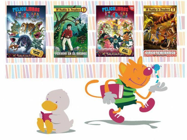 Peliculibros y Tú decides la aventura. Libros infantiles recomendados por Casa del Libro
