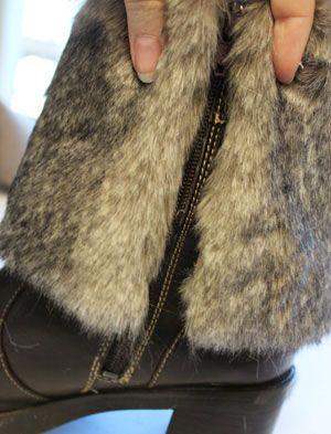 Recycled #fur boot covers. http://www.fursbygartenhaus.com/