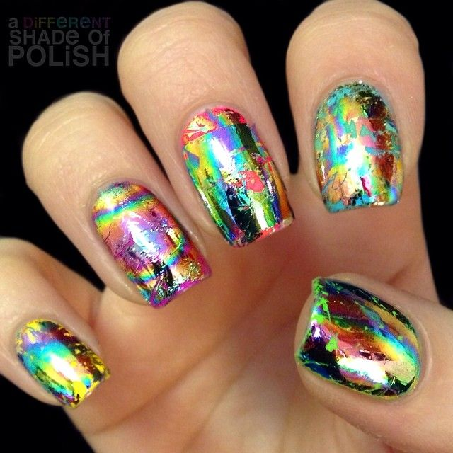 The 25 best foil nails ideas on pinterest foil nail designs my first time experimenting with nail foils practice need prinsesfo Images
