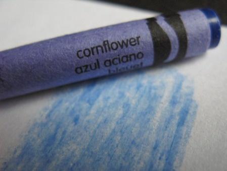 Cornflower Blue Crayon Image