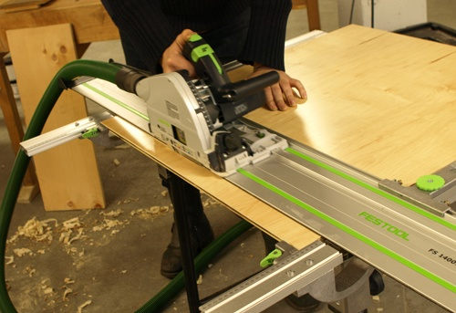 Festool Plunge Saw with Guide Rails