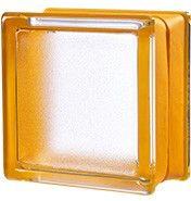 146x146x80 Mini Apricot - Glazen bouwstenen   Glasblokken   Glasdallen   Glastegels