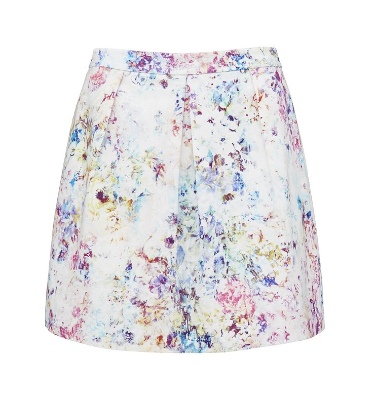 Forever New FLORAL OTTOMAN LILA PROM SKIRT