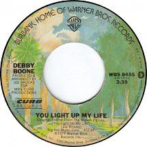 45cat - Debby Boone - You Light Up My Life / Hasta Mañana - Warner Bros. / Curb - USA - WBS 8455